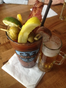 The Dusseldorf Bloody Mary at Cafe Bavaria in Wauwatosa.