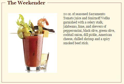 Weekender Bloody Mary Ike's